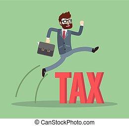 Business man tax jump