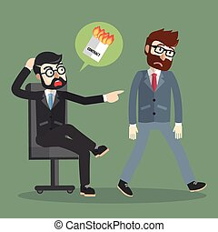 Businessman fired contract
