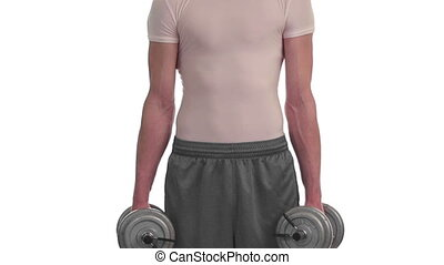 Dumbbell Shoulder Shrug - Dumbbell shoulder shrug exercise...