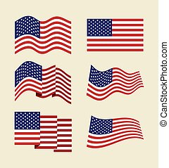 usa flag design - usa flag design, vector illustration eps10...