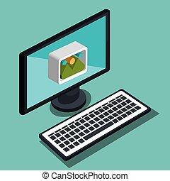 modern technology design - modern technology design, vector...