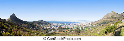 Panoramic Cape Town - View of Cape Town from Table Mountain