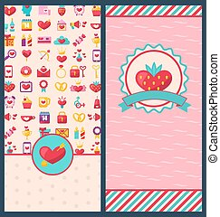 Collection Beautiful Banners for Happy Valentines Day -...