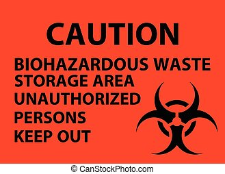 Biohazardous Waste Storage Area Poster