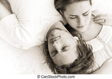 Dreaming of you - Couple in love take an afternoon nap...