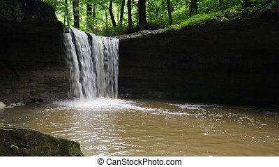 Rock Rest Falls Loop - Loop features Indiana's Rock Rest...