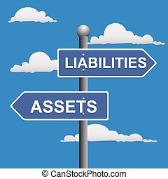 Assets liabilities - Assets, liabilities, two, way, road,...