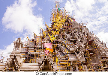 temple in thailand - Beautiful temples between repairing in...