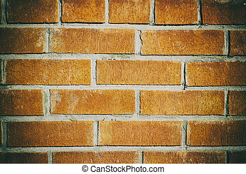 Red brick wall texture - Photograph of a red brick wall...