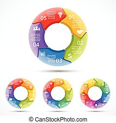 Vector 3d circle arrows infographic - Layout for your...