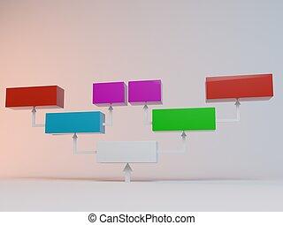 colorful 3d cubes - Colorful cubes with arrows 3D