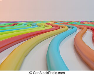 Abstract background line of colour