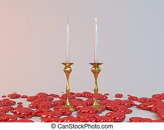 one side love - One side love where one candle flame is...