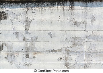 Old peeling paint brick wall grunge and dirty, background,...