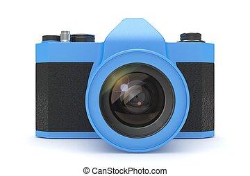 Retro camera isolated on  white background