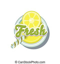 Lemon Fresh. Vector Illustration
