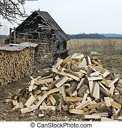 village firewood set - The decision of a power problem in...
