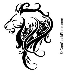 Lion head - vector illustration - Decorative vector Lion