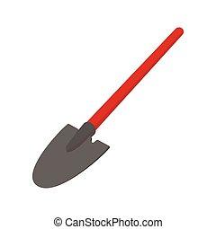 Shovel cartoon icon
