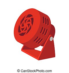 Red fan cartoon icon