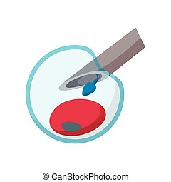 Artificial insemination cartoon icon on a white background