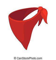 Cowboy neckerchief cartoon icon