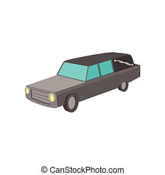 Hearse cartoon icon on a white background