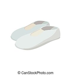 White shoes cartoon icon