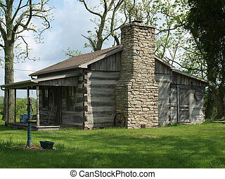 Log Cabin 1 - A rustic old log cabin in a quiet rural...
