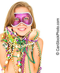 Beautiful Mardi Gras Queen Smile
