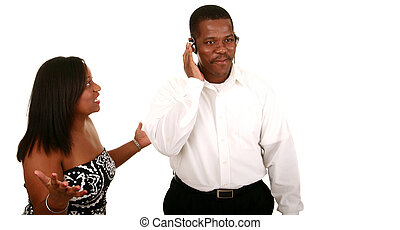 African American Couple Miscommunication - african american...