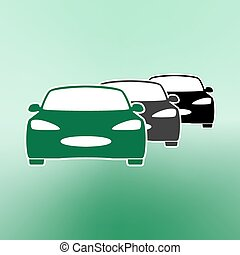 E-car Eco car Electric icon Charging electric car vector...