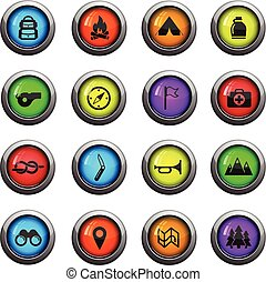 Boy scout simply icons - Boy scout icons set for web sites...
