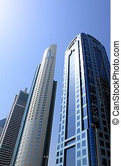 Dubai skyscrapers, united arab emirates