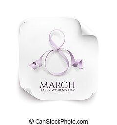 March 8 greeting card. Background template for International...