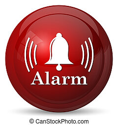 Alarm icon Internet button on white background