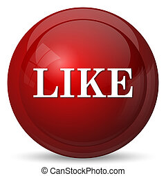 Like icon Internet button on white background