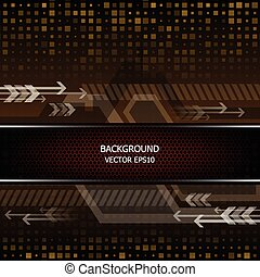 abstract modern technology background vector
