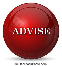 Advise icon. Internet button on white background.