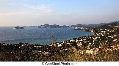 Panorama view of Kavala city, Greece