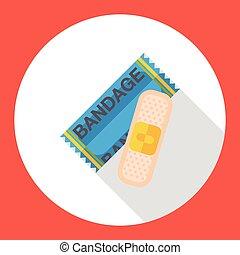 wound bandage flat icon