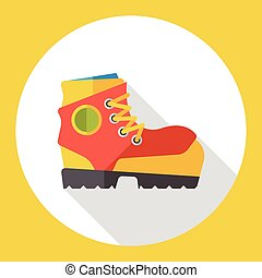 camp boot flat icon