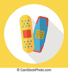 medical bandage flat icon