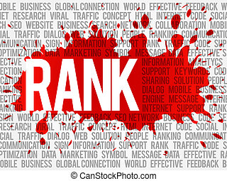 Rank word cloud, vector business concept background
