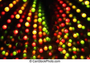 Dark background with color lights