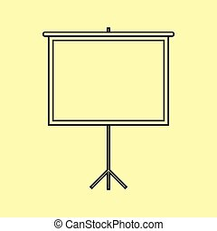 Blank Projection screen. Flat style icon vector...
