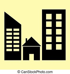 Real estate sign Flat style icon vector illustration