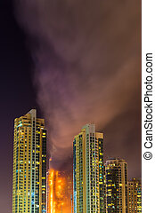 Fire accident in Dubai on New Years Eve 2016