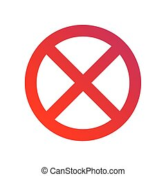 Clearway sign illustration - Clearway sign flat vector...