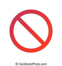 forbidden sign isolated on white